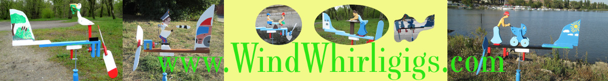 www.WindWhirligigs.com - Wind-driven wooden whirligigs