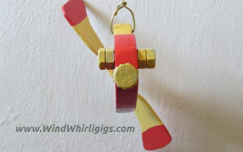 """Garden Decor """"Red Fish Whirligig"""".Front view."""