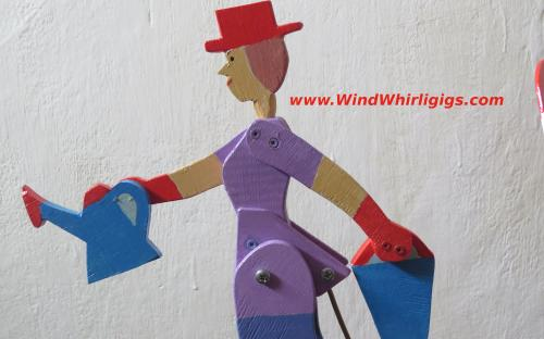 Garden Girl Wood whirligig