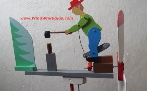 Wood Chopper Whirligig