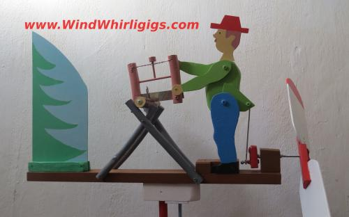 Wood Sawyer Whirligig