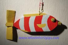 Red Fish Whirligig