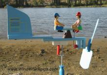 "Wind-driven wooden Whirligig ""Seesaw"""