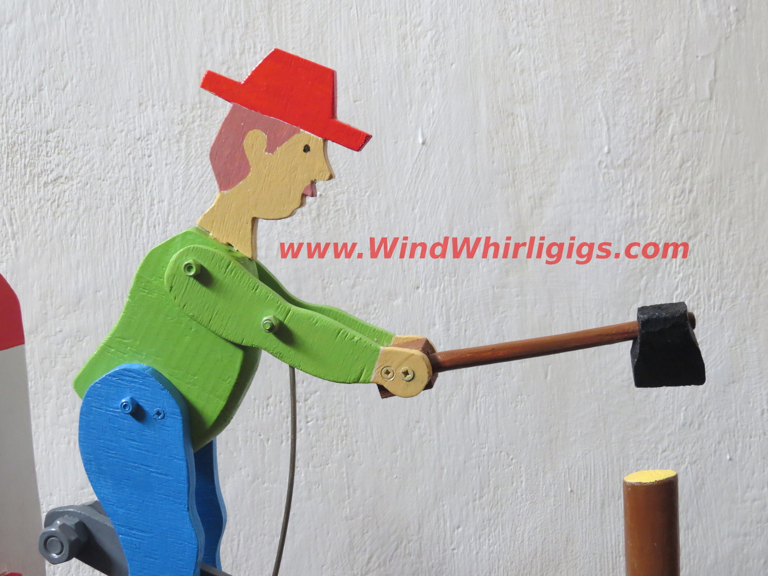 Wood Chopper Whirligig. Wind-driven whirligig.